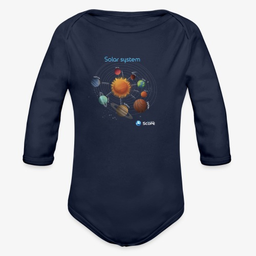 Solar System Scope : Solar System - Organic Long Sleeve Baby Bodysuit