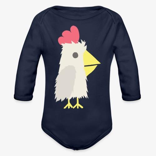Chicken - Organic Long Sleeve Baby Bodysuit
