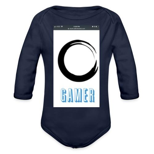 Caedens merch store - Organic Long Sleeve Baby Bodysuit