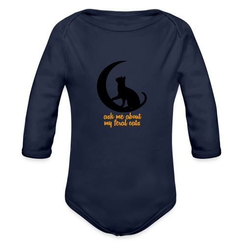 Feral Cats - Organic Long Sleeve Baby Bodysuit