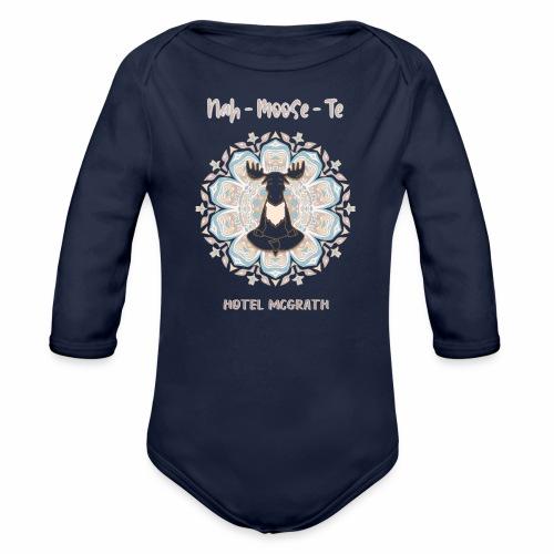 Nah Moose Te Tshirt Design - Organic Long Sleeve Baby Bodysuit