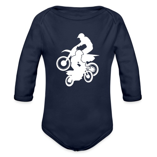 Motocross Dirt Bikes Off-road Motorcycle Racing - Organic Long Sleeve Baby Bodysuit