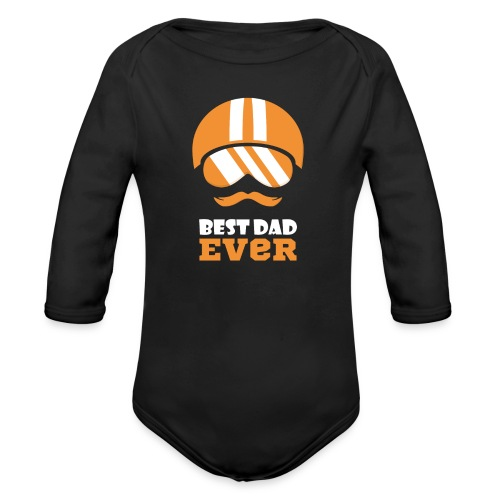 Best Motorcycle Dad Ever, Best Dad Ever - Organic Long Sleeve Baby Bodysuit
