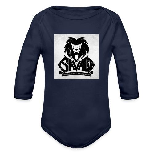 king savage - Organic Long Sleeve Baby Bodysuit