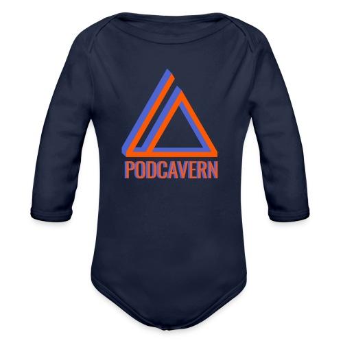 PodCavern Logo - Organic Long Sleeve Baby Bodysuit