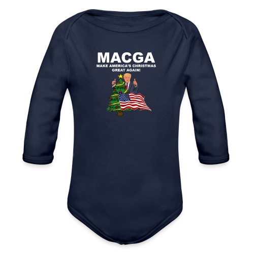 Make America's Christmas Great Again - Organic Long Sleeve Baby Bodysuit