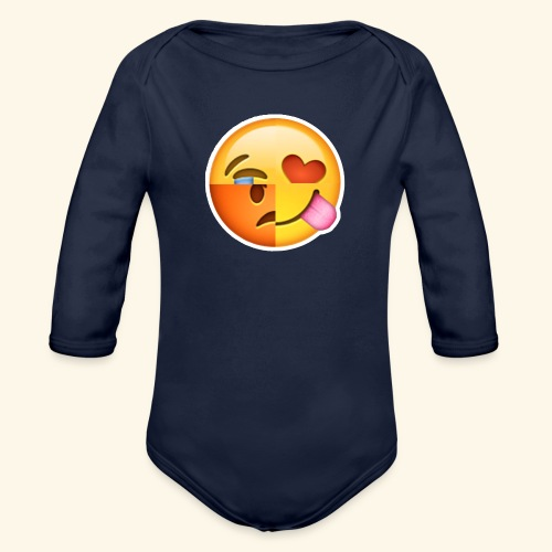 E Tees , Unique , Love , Cry, angry - Organic Long Sleeve Baby Bodysuit