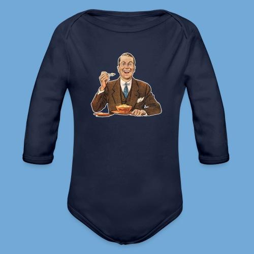 Happy Cereal Man - Organic Long Sleeve Baby Bodysuit
