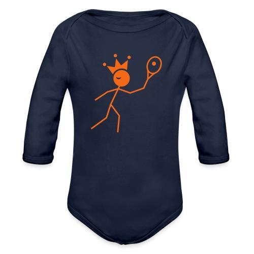 Winky Tennis King - Organic Long Sleeve Baby Bodysuit
