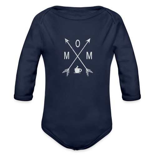 Mom Loves Coffee - Organic Long Sleeve Baby Bodysuit