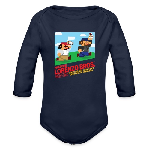 Awesome Lorenzo Bros 8 Bit - Organic Long Sleeve Baby Bodysuit