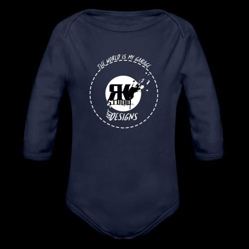 The World is My Garage - Organic Long Sleeve Baby Bodysuit