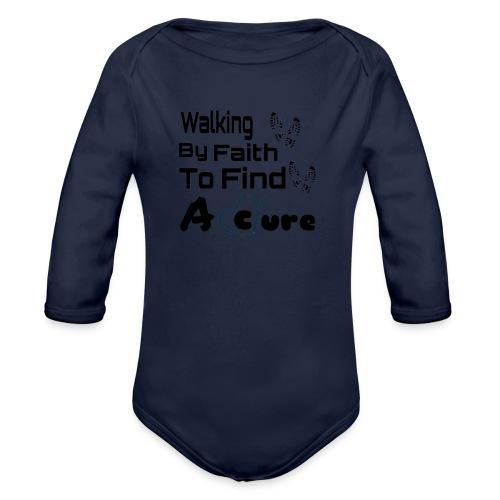 Walking By Faith Lupus Awareness Graphic Tee - Organic Long Sleeve Baby Bodysuit
