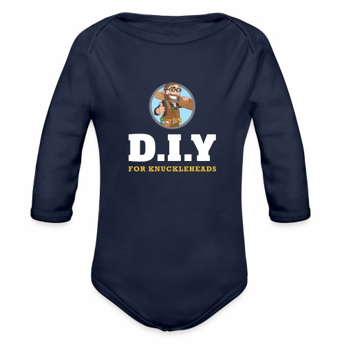 DIY For Knuckleheads Logo. - Organic Long Sleeve Baby Bodysuit