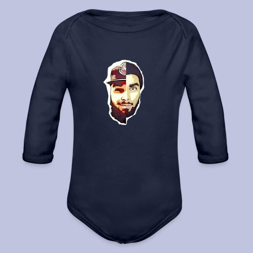 dlb face - Organic Long Sleeve Baby Bodysuit