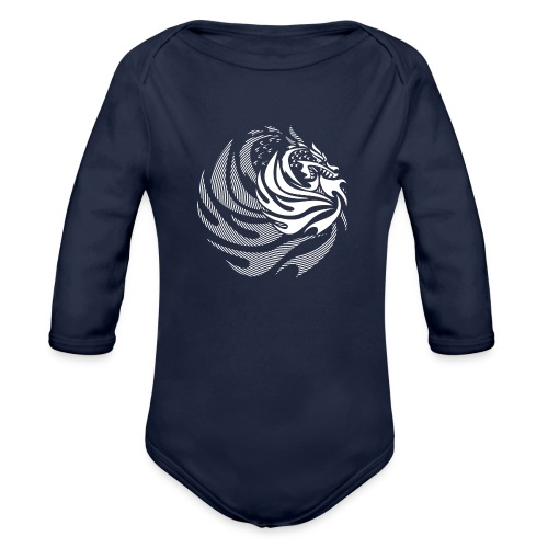 Fire Dragon - Organic Long Sleeve Baby Bodysuit