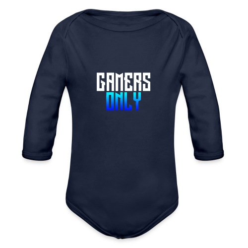 Gamers only - Organic Long Sleeve Baby Bodysuit