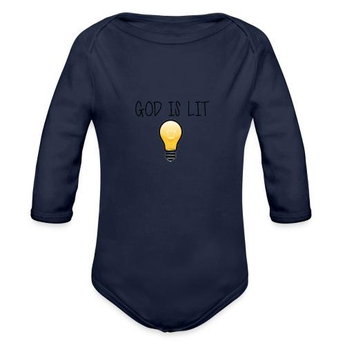 God is Lit - Organic Long Sleeve Baby Bodysuit