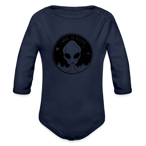 I Want To Believe - Organic Long Sleeve Baby Bodysuit