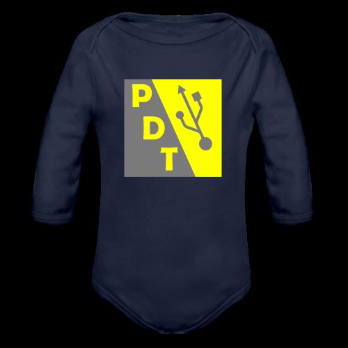 PDT Logo - Organic Long Sleeve Baby Bodysuit