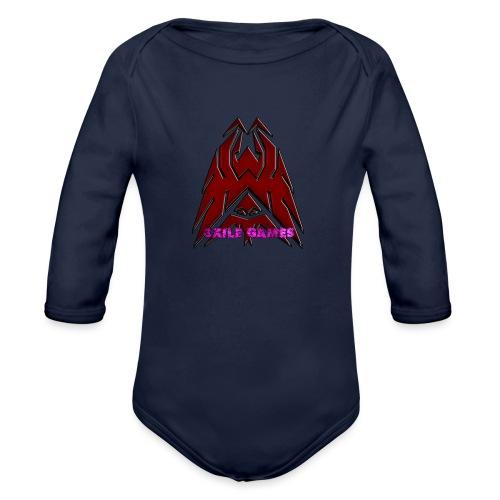 3XILE Games Logo - Organic Long Sleeve Baby Bodysuit
