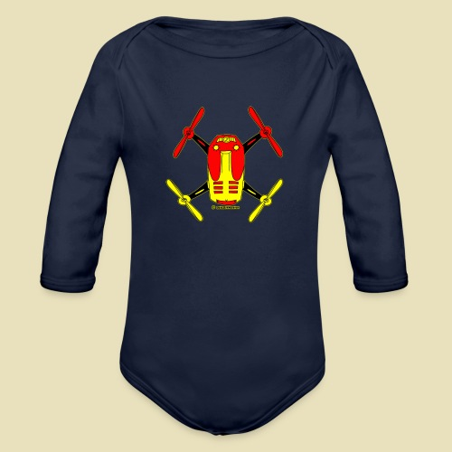 GrisDismation Ongher Droning Out Tshirt - Organic Long Sleeve Baby Bodysuit