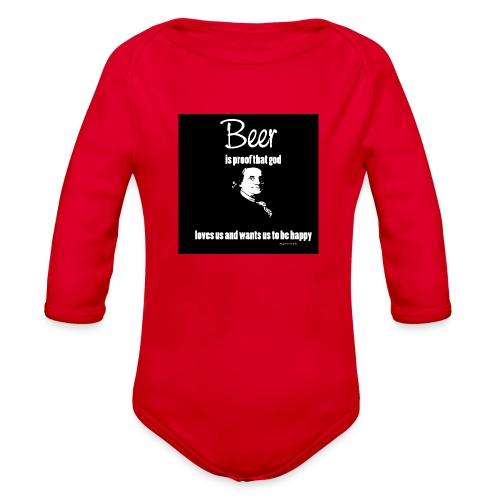 Beer T-shirt - Organic Long Sleeve Baby Bodysuit