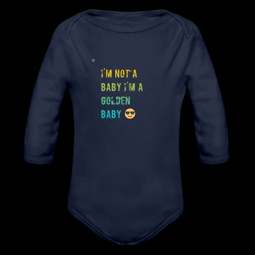 Baby dog or kids - Organic Long Sleeve Baby Bodysuit