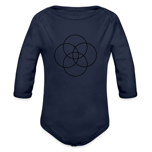 Circles - Organic Long Sleeve Baby Bodysuit