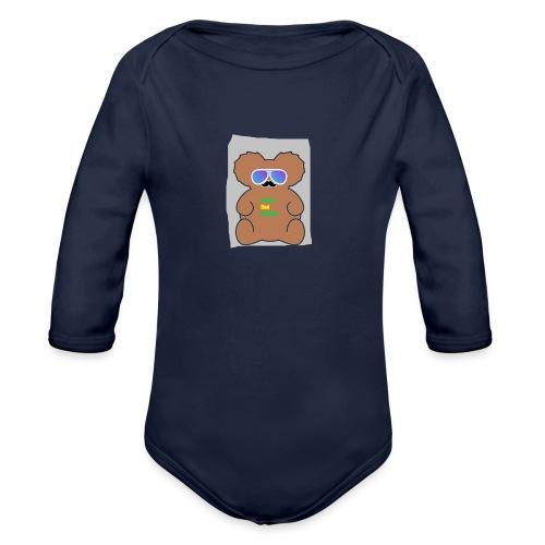 Aussie Dad Gaming Koala - Organic Long Sleeve Baby Bodysuit