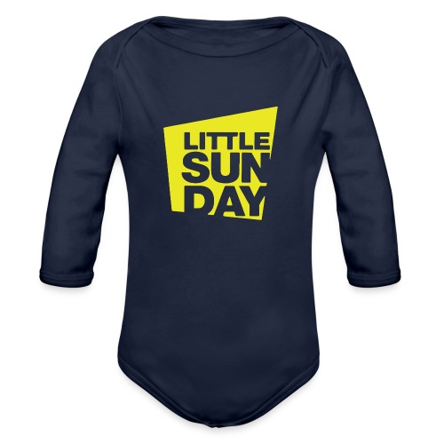 littleSUNDAY Official Logo - Organic Long Sleeve Baby Bodysuit