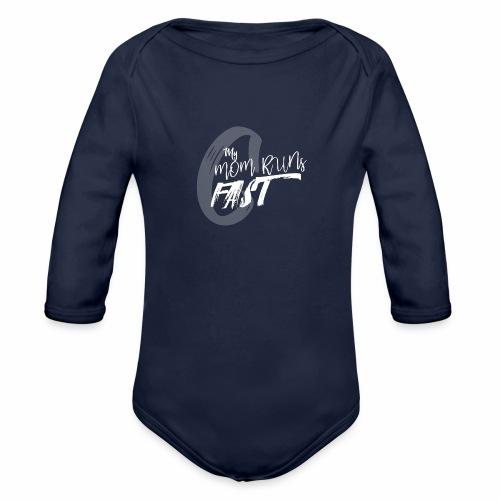 mymomrunsfast - Organic Long Sleeve Baby Bodysuit