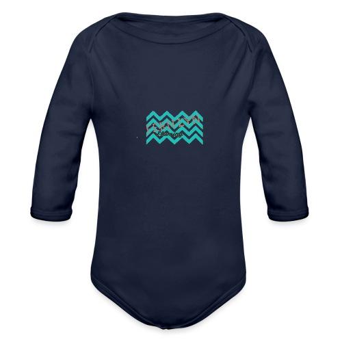Fern Lyn Flaming official logo - Organic Long Sleeve Baby Bodysuit