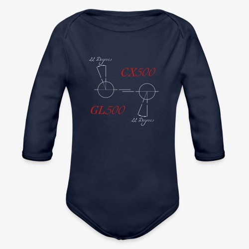 CX500 and GL500 - 22 degree twist - Organic Long Sleeve Baby Bodysuit
