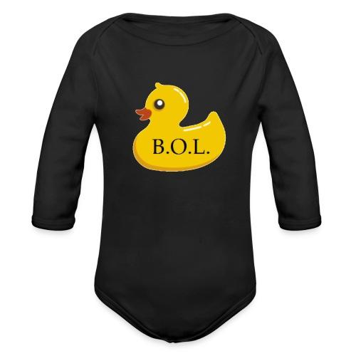 Official B.O.L. Ducky Duck Logo - Organic Long Sleeve Baby Bodysuit