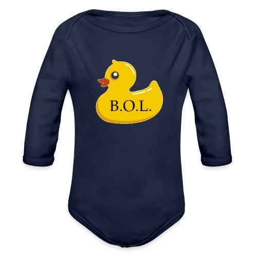 Official B.O.L. Ducky Duck Logo - Organic Long Sleeve Baby Bodysuit