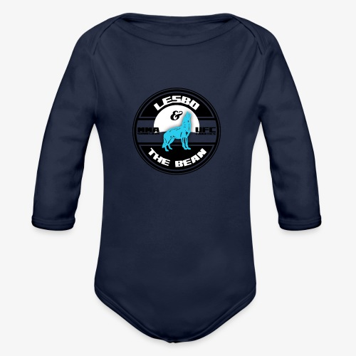 Lesbo and The Bean Logo - Organic Long Sleeve Baby Bodysuit