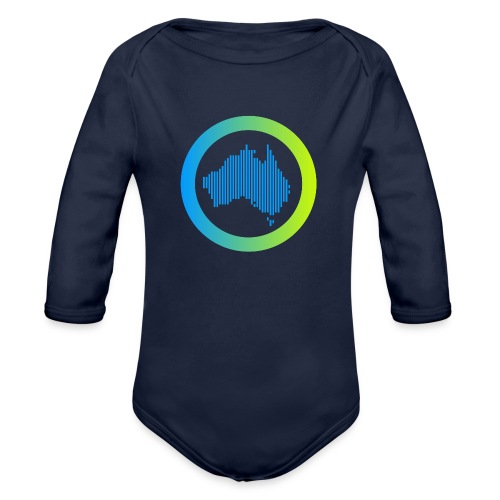 Gradient Symbol Only - Organic Long Sleeve Baby Bodysuit