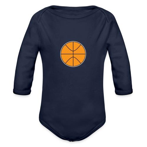 Plain basketball - Organic Long Sleeve Baby Bodysuit