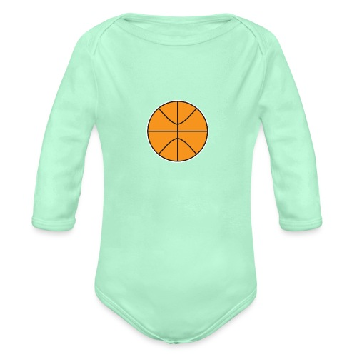 Plain basketball - Organic Long Sleeve Baby Bodysuit