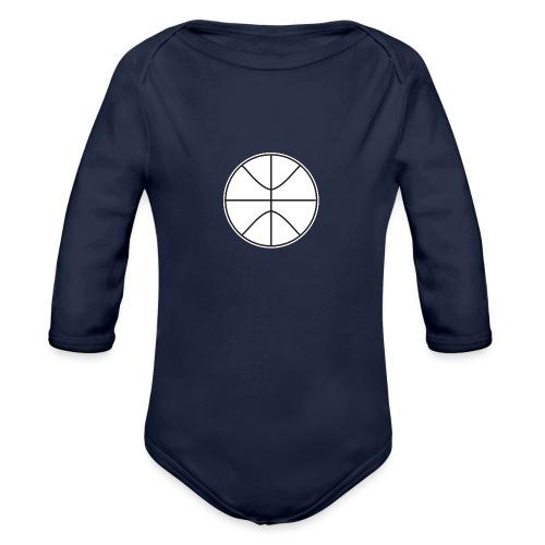 Basketball black and white - Organic Long Sleeve Baby Bodysuit