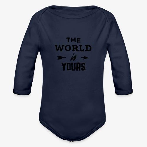 the world - Organic Long Sleeve Baby Bodysuit