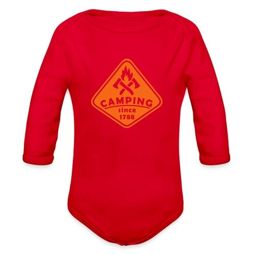 Campfire - Organic Long Sleeve Baby Bodysuit
