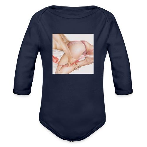 On da phone - Organic Long Sleeve Baby Bodysuit