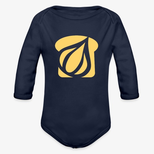 Garlic Toast - Organic Long Sleeve Baby Bodysuit
