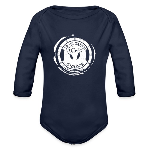It's Gainz O'Clock - Organic Long Sleeve Baby Bodysuit