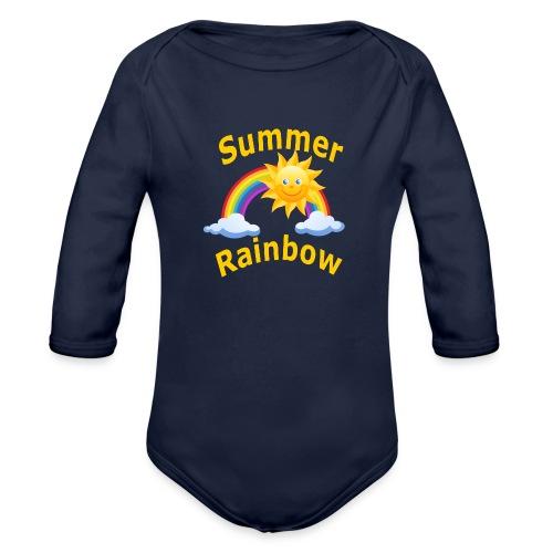 Summer Rainbow - Organic Long Sleeve Baby Bodysuit
