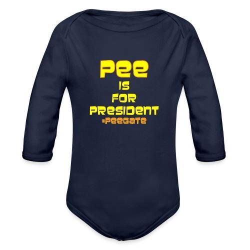 pee for president - Organic Long Sleeve Baby Bodysuit