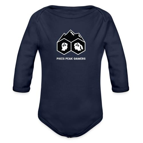 Pikes Peak Gamers Logo (Solid Black) - Organic Long Sleeve Baby Bodysuit