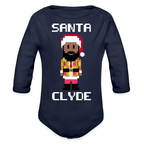 Santa Clyde So Fly (8-Bit) - Organic Long Sleeve Baby Bodysuit